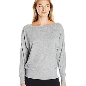 2(X)IST Gray Boatneck Sweat Shirt NEW